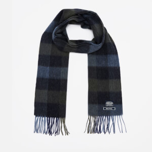 Joules Men's Tytherton Wool Scarf - Blue Mini Gingham
