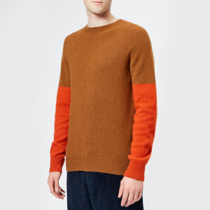 YMC Men's Skate Or Die Crew Jumper - Brown/Rust