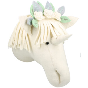 Fiona Walker England Wall Hanging Flower Unicorn Head