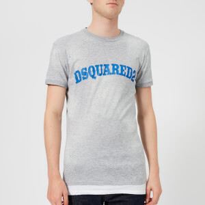 Dsquared2 Men's Dan Fit Destroyed T-Shirt - Grey Melange