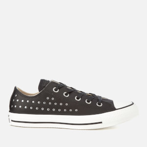 Converse Women's Chuck Taylor All Star Ox Trainers - Black/Silver