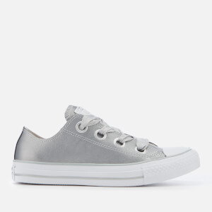 Converse Women's Chuck Taylor All Star Big Eyelets Ox Trainers - Metallic Silver/Silver/White