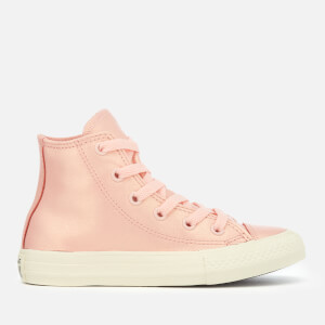 Converse Kids' Chuck Taylor All Star Hi-Top Trainers - Storm Pink/Metallic Gunmetal