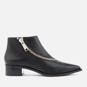 Senso Women's Lincoln Leather Zip Detail Ankle Boots - Black/Silver