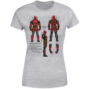 Marvel Deadpool Action Figure Plans Women's T-Shirt - Grey