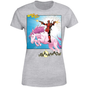 Marvel Deadpool Unicorn Battle Women's T-Shirt - Grey
