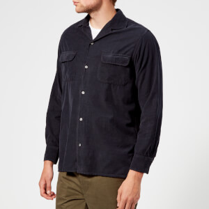 Officine Générale Men's Dario Corduroy Shirt - Dark Navy