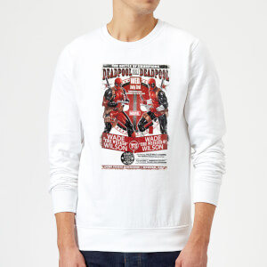 Marvel Deadpool Kills Deadpool Sweatshirt - White