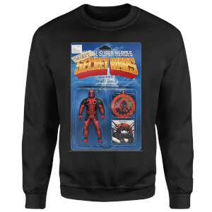 Marvel Deadpool Secret Wars Action Figure Sweatshirt - Black