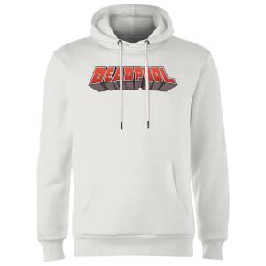 Sweat à Capuche Homme Logo Deadpool Marvel - Blanc