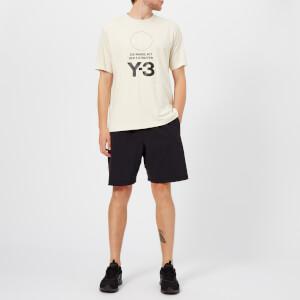 Y-3 Men's Stacked Logo Short Sleeve T-Shirt - Champagne/Black: Image 3
