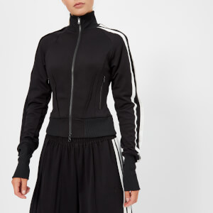 Y-3 Women's 3 Stripe Selvedge Matte Track Jacket - Black/Core White