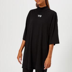 Y-3 Women's Signature Long Short Sleeve T-Shirt - Black/Core White