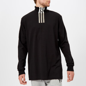 Y-3 Men's 3-Stripes High Neck Long Sleeve T-Shirt - Black/Core White