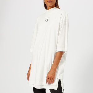 Y-3 Women's Signature Long Short Sleeve T-Shirt - Core White