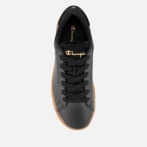 Champion Women's Era Leather Trainers - Black/Gum: Image 3