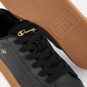 Champion Women's Era Leather Trainers - Black/Gum: Image 4