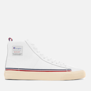 Champion Men's Mercury Mid Leather Trainers - White