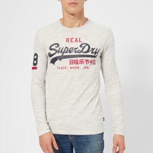 Superdry Men's Vintage Logo Duo Long Sleeve T-Shirt - Urban Ice Grit