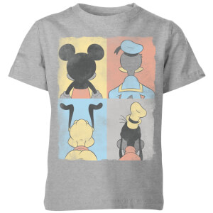T-Shirt Enfant Disney Donald Duck Mickey Mouse Pluto Dingo - Gris