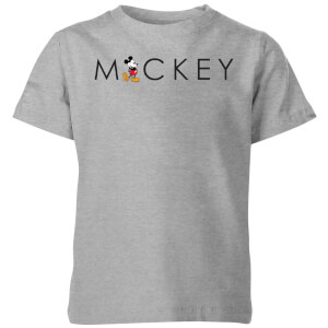 Disney Kick Letter Kids' T-Shirt - Grey