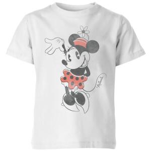 Camiseta Disney Mickey Mouse Minnie Saludo - Niño - Blanco