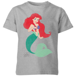 Disney The Little Mermaid Princess Ariel Classic Kids' T-Shirt - Grey