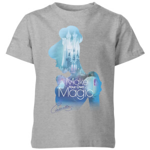 Disney Princess Filled Silhouette Cinderella Kids' T-Shirt - Grey