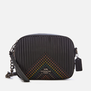 Coach Women's Quilting with Rivets Camera Bag - Black Multi