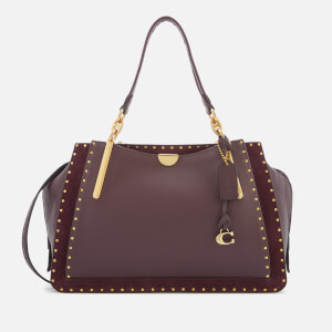 Coach Women's Border Rivets Mixed Leather Dreamer 36 Bag - Oxblood