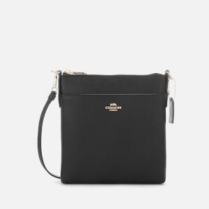 Coach Women's Crossgrain Messenger Cross Body Bag - Black