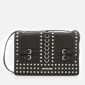 Love Moschino Women's Studded Shoulder Bag - Black