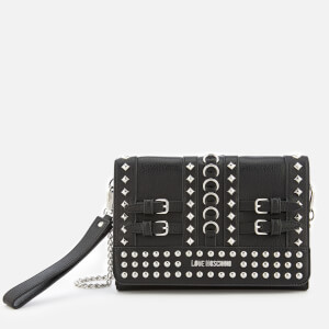 Love Moschino Women's Studded Small Cross Body Bag - Black