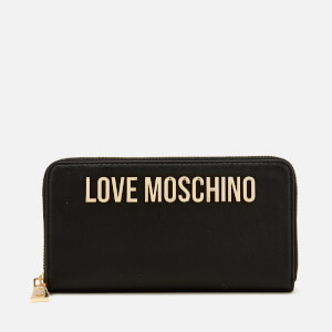 Love Moschino Women's Classic Logo Zip Around Purse - Black