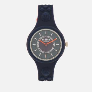 Versus Versace Men's Fire Island Bicolor Silicone Watch - Navy/Red