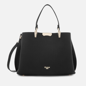 Dune Women's Darrow Large Triangle Base Unlined Tote Bag - Black