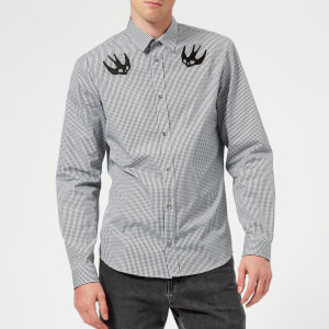 McQ Alexander McQueen Men's Sheehan Gingham Swallow Shirt - Black/White
