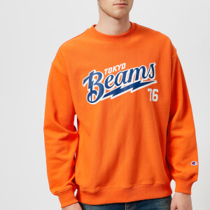 Champion X Beams Men's Crew Neck Sweatshirt - Orange