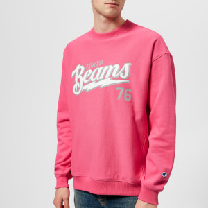 Champion X Beams Men's Crew Neck Sweatshirt - Pink