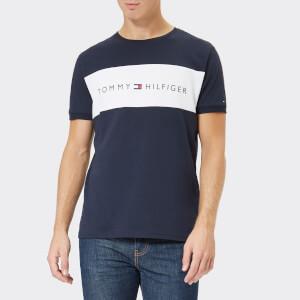 Tommy Hilfiger Men's Round Neck Short Sleeve Logo T-Shirt - Navy Blazer