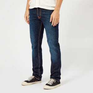 Nudie Jeans Men's Dude Dan Straight Leg Jeans - Dark Layers Comfort