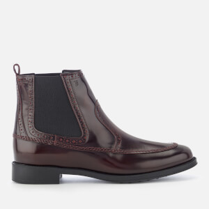 Tod's Women's Flat Chelsea Boots - Burgundy