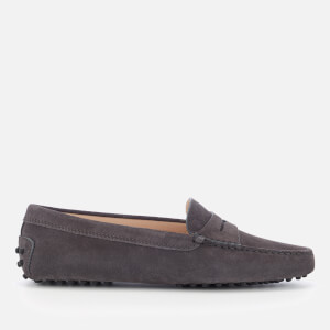 Tod's Women's Suede Driving Shoes - Grey