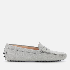Tod's Women's Leather Loafers - Silver