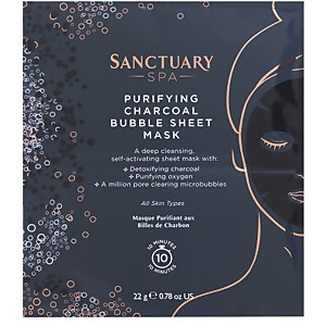 Sanctuary Spa Charcoal Bubble Sheet Mask 22g