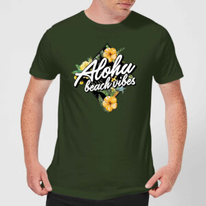 Aloha Beach Vibes Men's T-Shirt - Forest Green