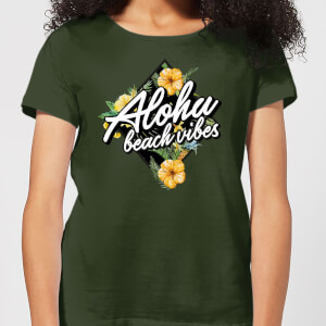 Aloha Beach Vibes Women's T-Shirt - Forest Green