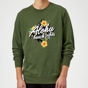 Aloha Beach Vibes Sweatshirt - Forest Green