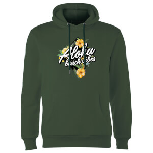Aloha Beach Vibes Hoodie - Forest Green