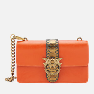 Pinko Women's Love Python Western Bag - Orange